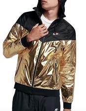 Nike Sportswear Windrunner Jacket 924515-707 Black Metallic Gold Red Men s M f17fc8642
