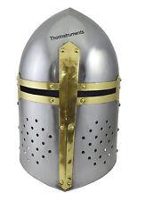 Sugar loaf Armor Helmet POLISHED Medieval Armour Knight Crusader Armour