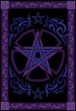 """Tribal Pentacle Tapestry 58 x 82"""" Wiccan Pagan Altar Supply WTCELP"""