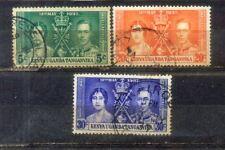 1937 Kenya Uganda Tanganyika KUT Coronation Stamps