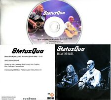 STATUS QUO Break The Rules (Live & Acoustic) 2015 UK 1-track promo test CD