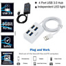 1pc Multiple USB 2.0 Hub Ports High Speed 4 Port For PC Accessory High Quality