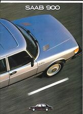 SAAB 900 BERLINA 4 PORTE gamma SALES BROCHURE 1981