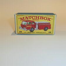 Matchbox Lesney 29 Fire Pumper Truck Red MIB