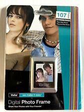 "Vivitar Digital Photo Frame Key Chain Portable Slide Show Picture 1.5"" Viewer"
