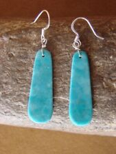 Navajo Indian Jewelry Turquoise Slab Earrings! Native American