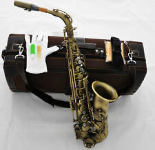 new Professional Eb Alto Saxophone Mark VI Model Sax Antique Finish With Case