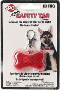 Spot Ethical Pet Led Safety Tag Bone Shape Id Free Shipping