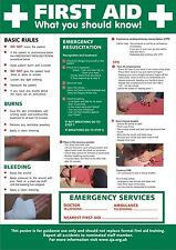 A4 Laminated - HSE Basic Advice On First Aid At Work POSTER