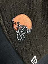 493aec189d3 TRAVIS BENJAMIN CLEVELAND BROWNS GAME USED NEW ERA HOODIE BEANIE   SNOW HAT
