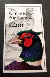 US Booklet Stamp Scott#  BK242A Pheasant 1999    MNH C480
