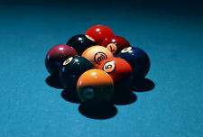 Framed Print - 9 Ball Pool Setup (Picture Poster Art Snooker Billiards Games)