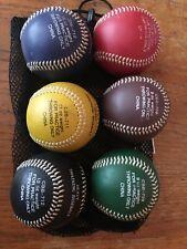 6 New Champro Training Weighted Baseballs, 7,8, 9,10,11 & 12 Oz. Balls, Leather