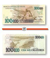 Brazil 100000 Cruzeiros 1992 Unc Pn 235a - Banknote24
