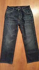 Ted Baker DIXIE DEANS Jeans size 30 x 26.5 Straight Leg 100% Cotton Button Fly