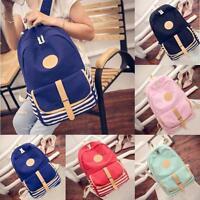 Women Girls Canvas Travel School Lady Satchel Shoulder Bag Backpack Rucksack New