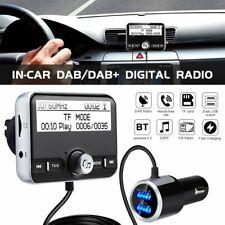 In-Car DAB / DAB+Digital Radio Adapter FM Transmitter Bluetooth Handsfree QC3.0