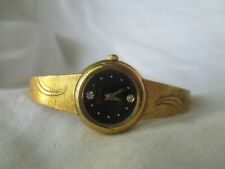 Elgin Formal Goldtone Watch with Feminine Slim Plated Band and Jewels