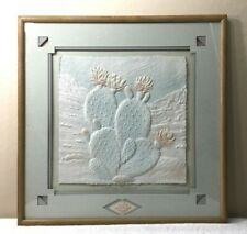"Vintage Figi Graphics Large 13""x13"" Wess Pressed Art Print ""Cactus Flower"""