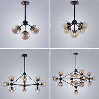 Glass Pendant Light Kitchen Lamp Black Chandelier Lighting Modern Ceiling Lights