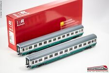 RIVAROSSI HR4282 - 1:87 - Set 2 carrozze passeggeri FS  tipo UIC-Z  2°cl. XMPR e