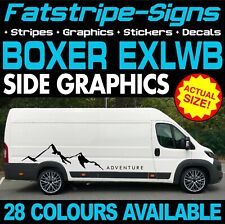 PEUGEOT BOXER L4 EXLWB GRAPHICS STICKERS STRIPES DECALS DAY VAN CAMPER MOTORHOME