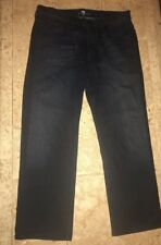 7 For All Mankind Dark Semi Distressed Jeans Size 32