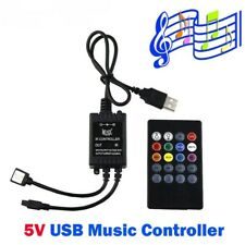 5V Music IR Controller 20 Keys Black Voice Sound Sensor usb 5050 3528 RGB 5V LED