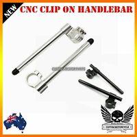 "New CNC Billet Clip on Riser 1"" Handle Bar Ducati 848 1098 1198 999 749 S R 53mm"
