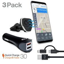 Naztech Safety Essential Cell Phone Car Kit -USB-C + Cable/Magbuddy/USB Charger