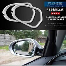 Chrome Car Rear View Mirror Ring Trim Protective Sticker Cover Fit For Audi A6