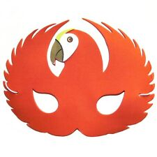 Foam Red Parrot Mask - Animal Fancy Dress For Children & Grown Ups