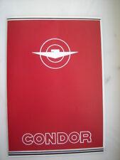 Prospekt Condor Motorräder Swiss C-580 513 512 312 680 Armee Condorette 1947 RP