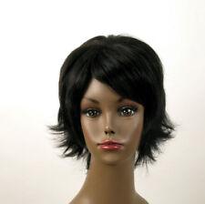 perruque afro femme 100% cheveux naturel courte noir ref KITTY 04 1B