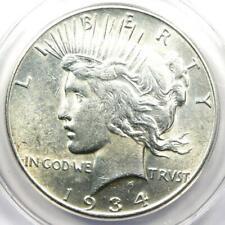 1934-S Peace Silver Dollar $1 - Certified ANACS AU55 - Near MS/UNC - Rare Date!