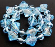 "Sistersbeads ""E-Ocean Crystals"" Handmade Lampwork Beads"