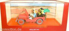 Willys Jeep MB 1943 au Pays de le R Noir Tintin Atlas 1:43 Emballage D'Origine