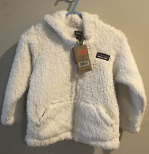 Patagonia Infant Toddler Hooded Furry Friends Fleece Birch White Sz 12-18 Mo