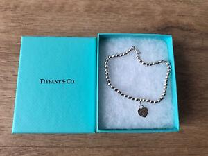 Return to Tiffany Armband Herz Kugelarmband Silber Staubbeutel Geschenkbox 19 cm