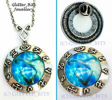 MORTAL INSTRUMENTS BLUE RUNE NECKLACE AND BROOCH SET SHADOWHUNTER BADGE CLARY