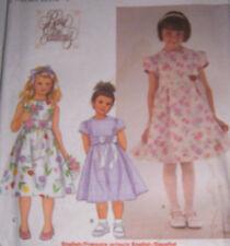 Girl's 5 6 7 8  spring EASTER DRESS pattern girlie classic back tie w/zip OOP