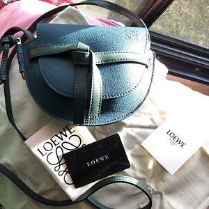 Pre-Owned LOEWE green gate Mini Crossbody Bag