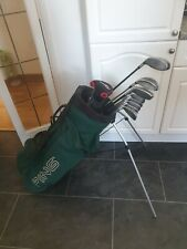 SUPERB SET OF PING & TAYLORMADE GOLF CLUBS, RIGHT HANDED, STIFF FLEX SHAFTS