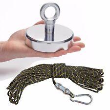 125mm Recovery Magnet Fishing Treasure Detector 20 Metre Rope & Carabiner 130kg