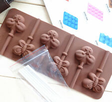 Silicone Butterfly Bee Lolipop Chocolate Mould Cooking Ice Cube Jelly Lolly Kid