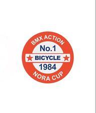 Nora Cup 1984 Decal Stickers old school BMX Restoration decals