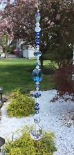 Handmade Blue Crystal Suncatcher/Prism W/Swarovski Elements Feng Shui USA