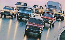1982 Chevy Trucks Brochure:PickUp,BLAZER,SUBURBAN,S-10,VAN,EL CAMINO,Diesel,4WD,