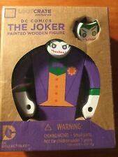 NIB - The Joker Painted Wooden Figure DC Comics Loot Crate Exclusive SEALED