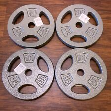 "CAP 4x 10lb Barbell Standard 1"" Weight Plate (40 lb Total) In Hand SHIPS TODAY!"